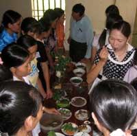 Concours de cuisine au Vietnam : repas nutritifs pour les enfants