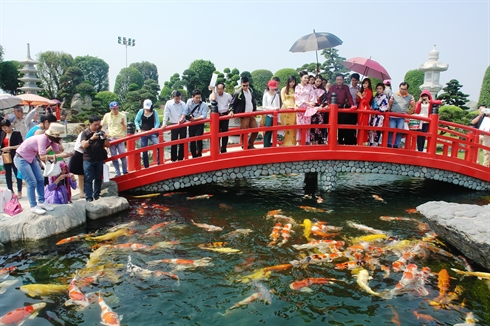 Inauguration d un jardin japonais h chi minh ville for Jardin des sens ho chi minh