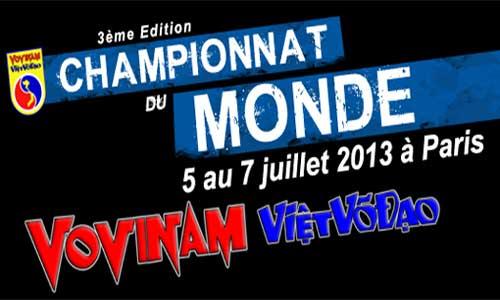 3 championnats du monde de vovinam viet vo dao paris - Institut national du judo porte de chatillon ...